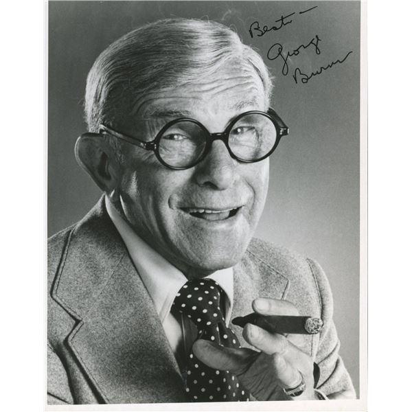 George Burns signed photo