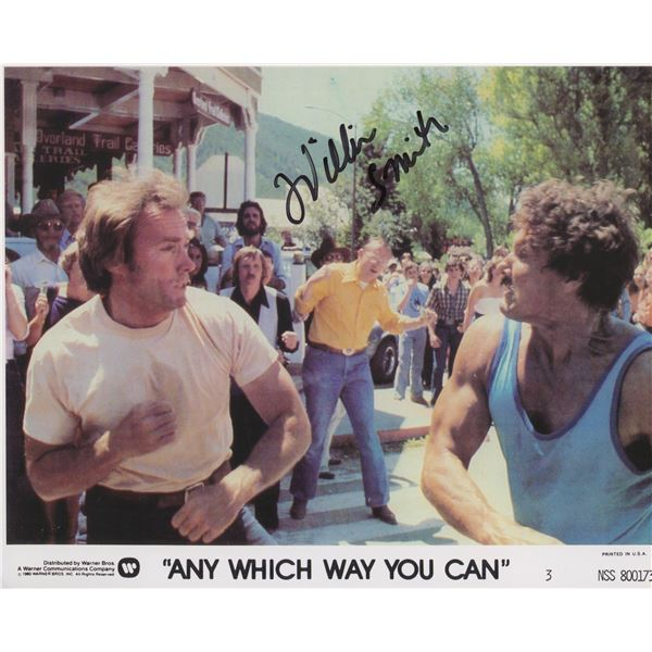 """William Smith signed """"Any Which Way You Can"""" movie photo"""