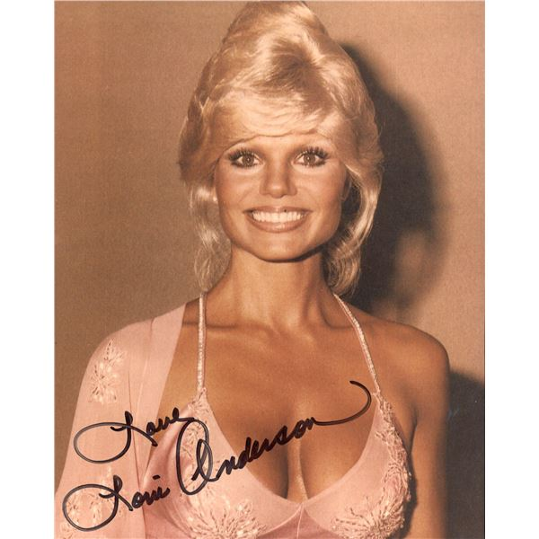 Loni Anderson signed photo