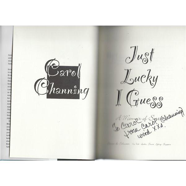 Carol Channing signed book