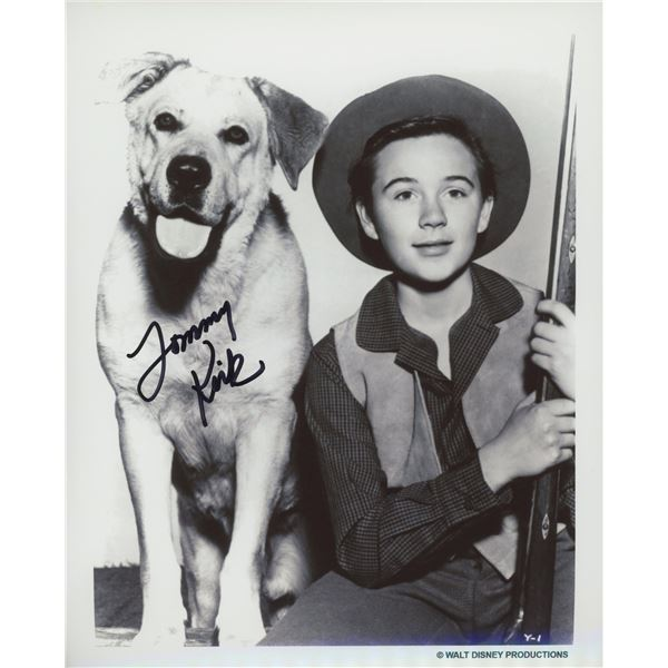 """Tommy Kirk """"Old Yeller"""" signed movie photo"""