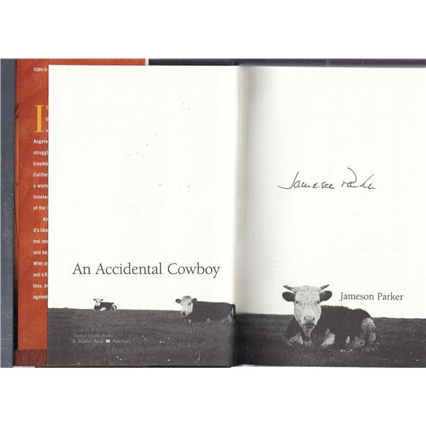 Jameson Parker signed book