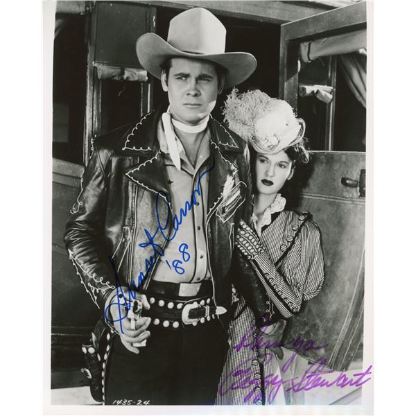 Sunset Carson and Peggy Stewart signed movie still photo