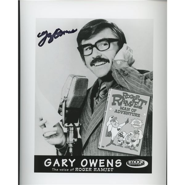 """Gary Owens """"Roger Ramjet"""" signed photo"""