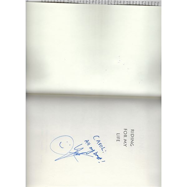 Riding For My Life Julie Krone signed book
