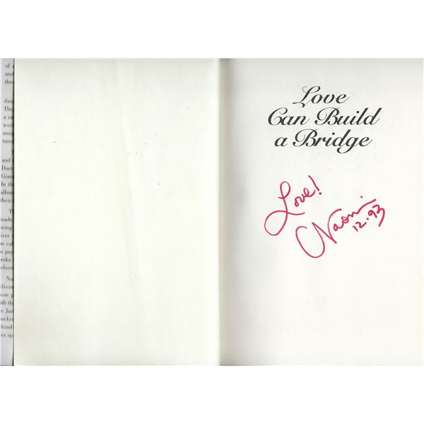 Love Can Build A Bridge Naomi Judd signed book