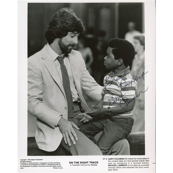 Gary Coleman signed On The Right Track movie promo photo