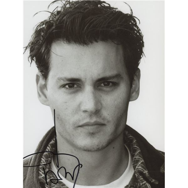 Johnny Depp signed photo