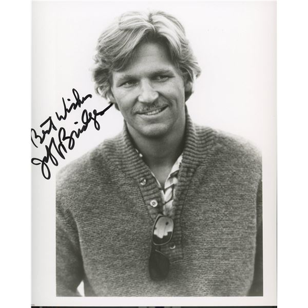 Jeff Bridges signed photo