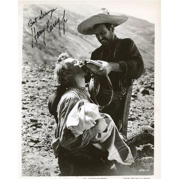 Harry Carey Jr. signed 3 Godfathers movie photo