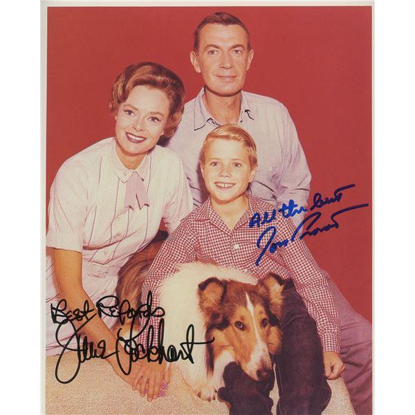"June Lockhart and Jon Provost signed ""Lassie"" photo"