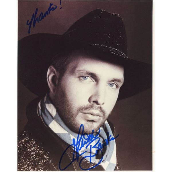 Garth Brooks signed photo