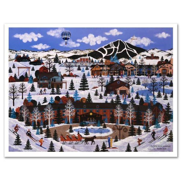 "Jane Wooster Scott, ""Sun Valley Winter Wonderland"" Hand Signed Limited Edition L"