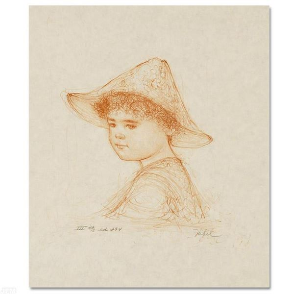 """""""Anthony"""" Limited Edition Lithograph by Edna Hibel (1917-2014), Numbered and Han"""