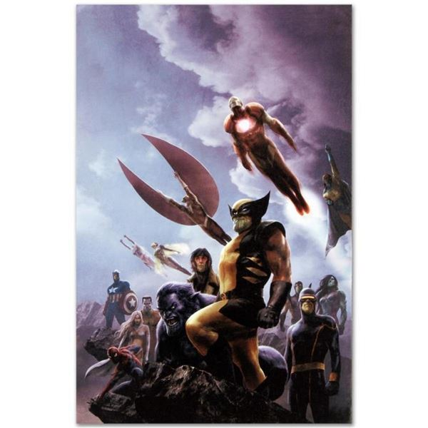 """Marvel Comics """"New Avengers #45"""" Numbered Limited Edition Giclee on Canvas by Al"""
