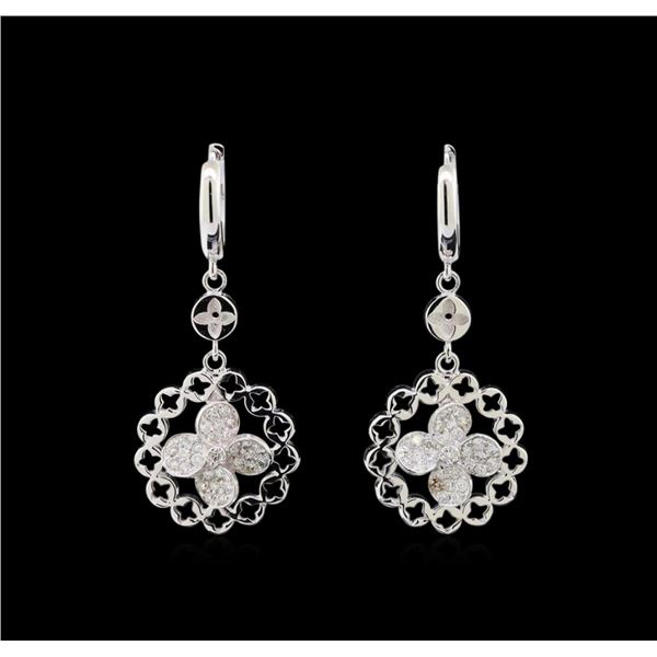 0.60 ctw Diamond Earrings - 14KT White Gold