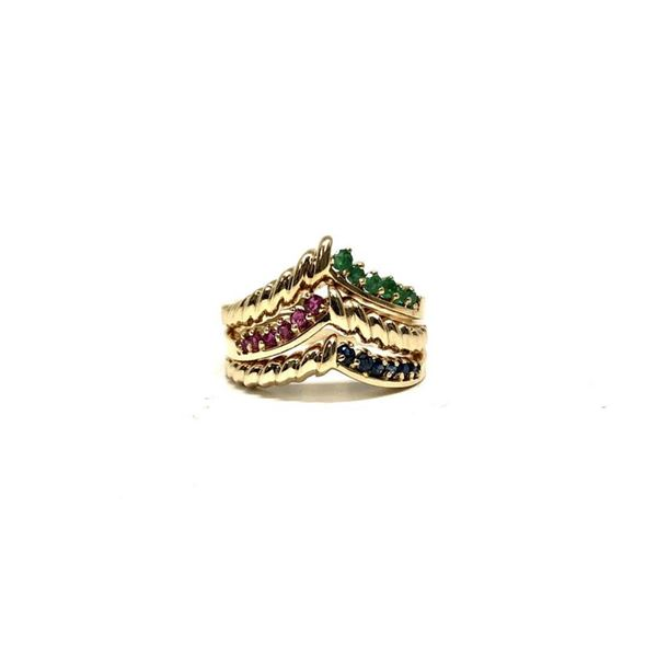 0.69 ctw Round Brilliant Emerald Rings - 14KT Yellow Gold