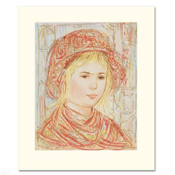 """""""Liv"""" Limited Edition Serigraph by Edna Hibel (1917-2014), Numbered and Hand Sig"""