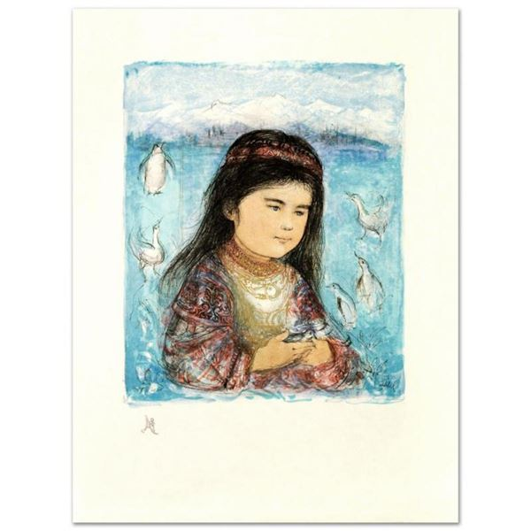 """""""Aleut Child"""" Limited Edition Lithograph by Edna Hibel (1917-2014), Numbered and"""