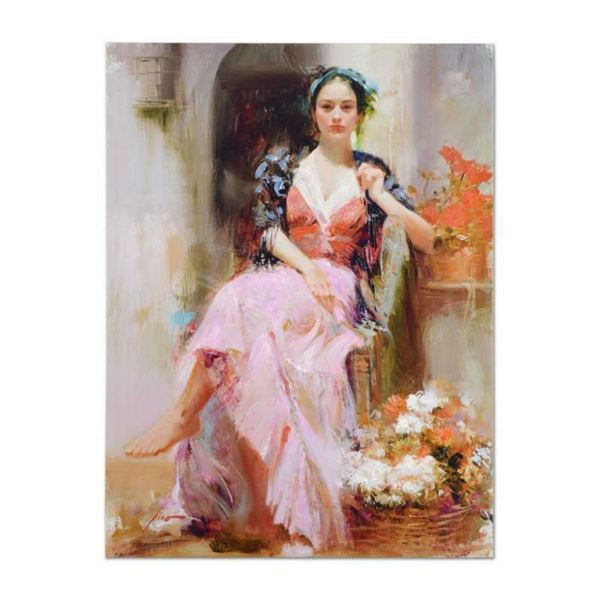 """Pino (1939-2010), """"Country Girl"""" Artist Embellished Limited Edition on Canvas (3"""