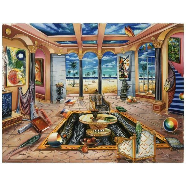"""Alexander Astahov, """"Beach House"""" Hand Signed Limited Edition Giclee on Canvas wi"""