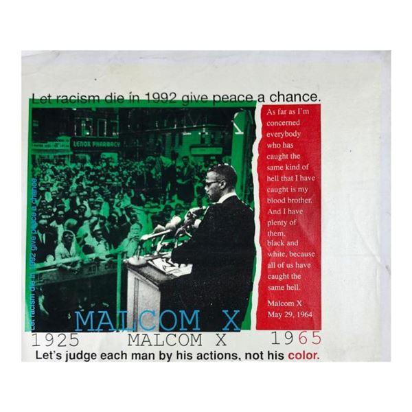 Malcolm X (State 3) by Steve Kaufman (1960-2010)