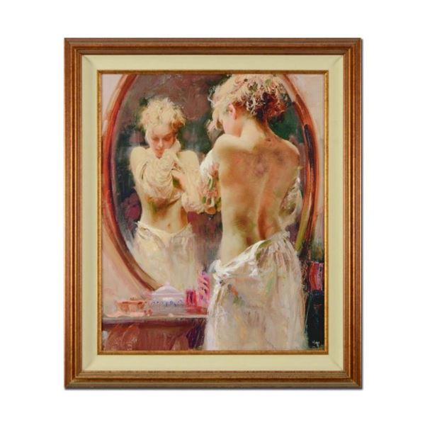 """Pino (1939-2010), """"Contemplation"""" Framed Limited Edition Artist-Embellished Gicl"""
