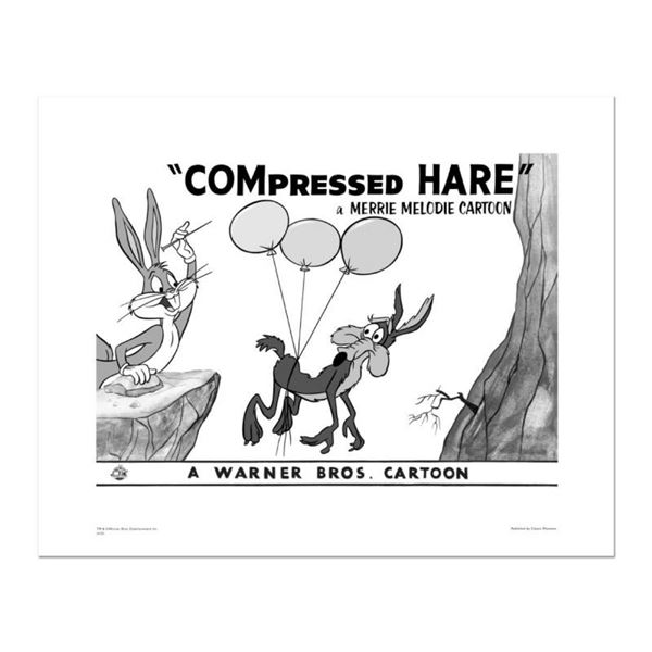 """""""Compressed Hare"""" Numbered Limited Edition Giclee from Warner Bros. with Certifi"""