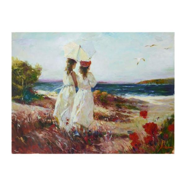 """Pino (1939-2010), """"Sister"""" Limited Edition Artist-Embellished Giclee on Canvas."""