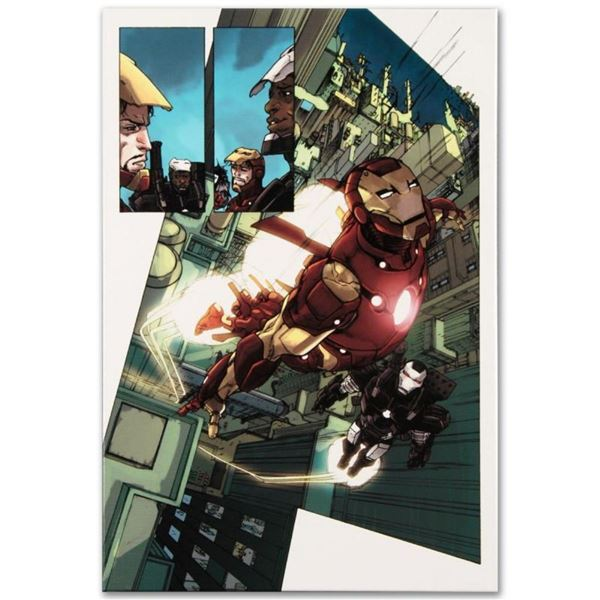 """Marvel Comics """"Iron Man 2.0 #1"""" Numbered Limited Edition Giclee on Canvas by Bar"""