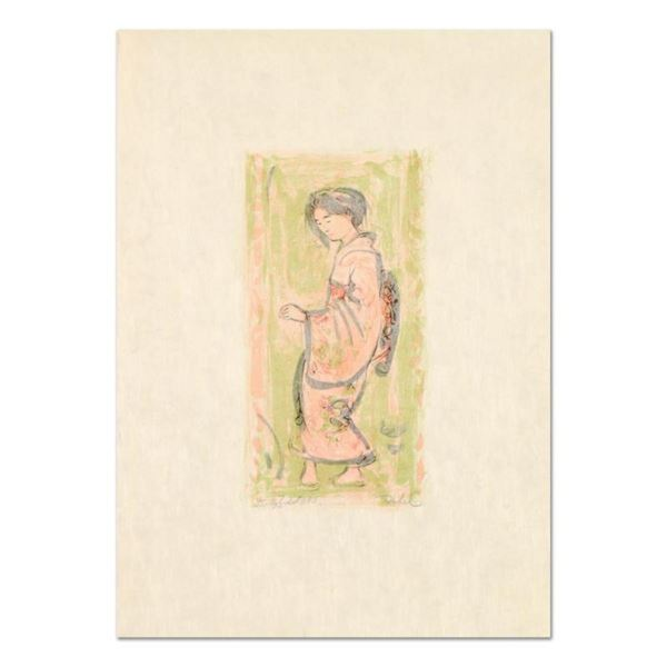 """Edna Hibel (1917-2014), """"Ume"""" Limited Edition Lithograph on Rice Paper, Numbered"""
