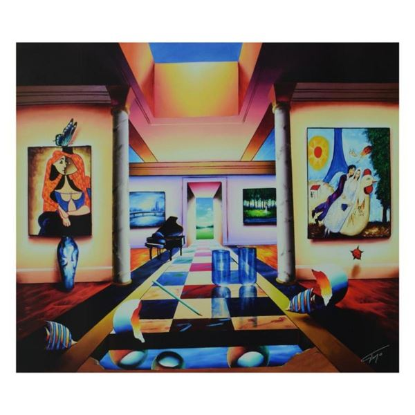 """Ferjo, """"Restful Days"""" Limited Edition on Canvas, Numbered and Signed with Letter"""