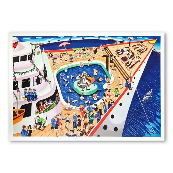 """Yuval Mahler, """"The Cruise"""" Hand Signed Limited Edition Serigraph on Paper with L"""