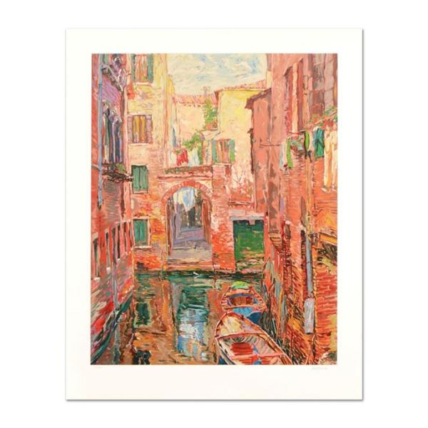 """Marco Sassone, """"Rio Secundo"""" Limited Edition Serigraph, Numbered and Hand Signed"""