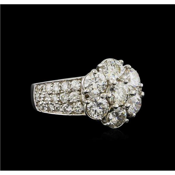 14KT White Gold 3.17 ctw Diamond Ring