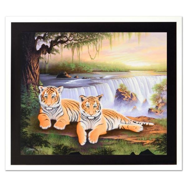 """Jon Rattenbury, """"Tiger Falls"""" Limited Edition Giclee on Canvas, Numbered and Han"""