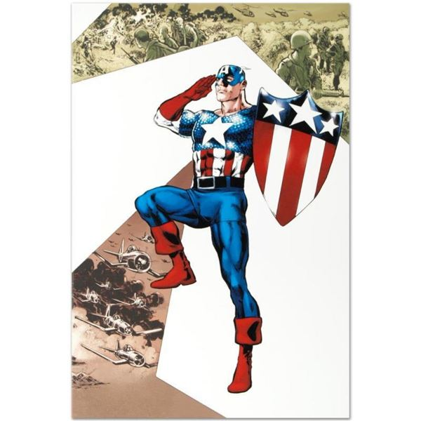 """Marvel Comics """"Captain America Corps #2"""" Numbered Limited Edition Giclee on Canv"""