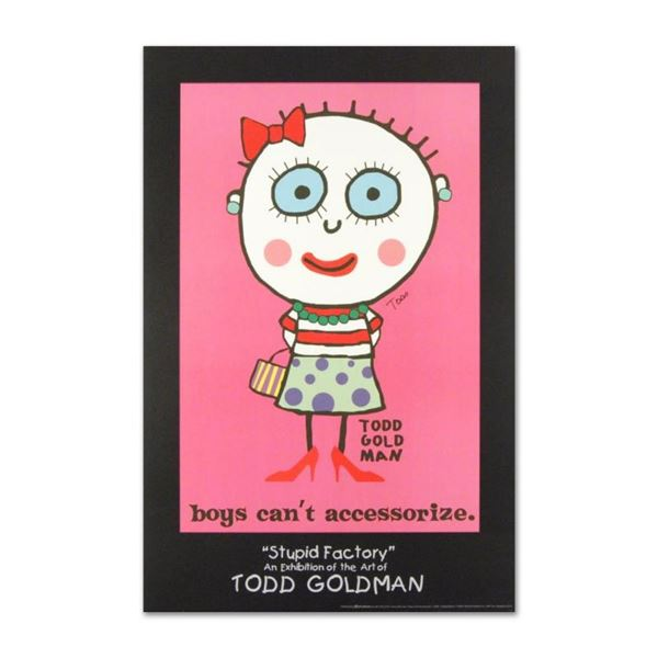 """""""Boys Can't Accessorize"""" Collectible Lithograph Hand Signed by Renowned Pop Arti"""