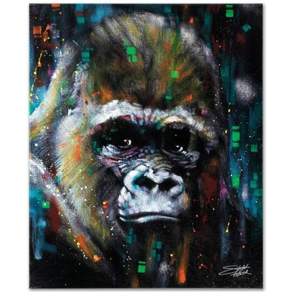 """""""Albert"""" Limited Edition Giclee on Canvas by Stephen Fishwick, Numbered and Sign"""