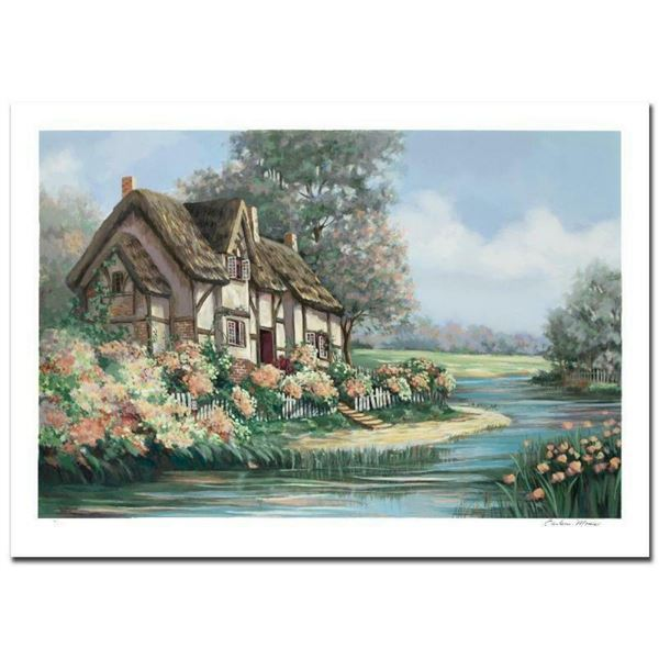 """""""Springtime in Sheffield"""" Limited Edition Serigraph (36"""" x 24"""") by Earlene Moses"""