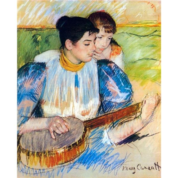 Mary Cassatt - The Banjo Lesson