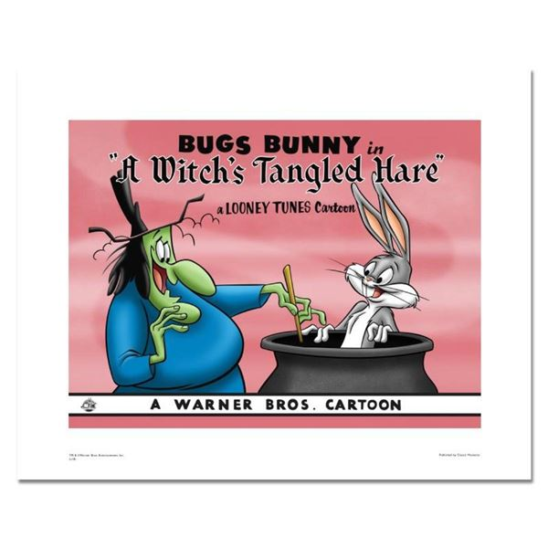 """""""A Witch's Tangled Hare"""" Numbered Limited Edition Giclee from Warner Bros. with"""