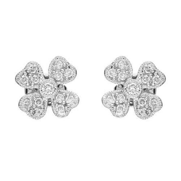 14k White Gold 0.31CTW Diamond Earrings, (SI2-SI3/G-H)