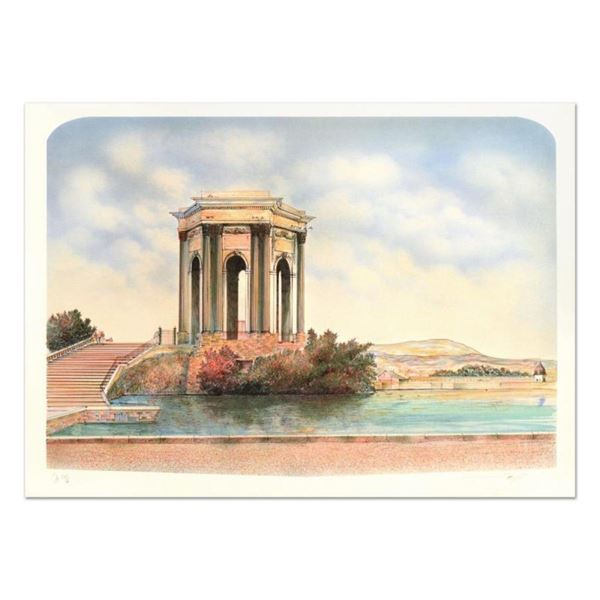 """Rolf Rafflewski, """"Monument"""" Limited Edition Lithograph, Numbered and Hand Signed"""