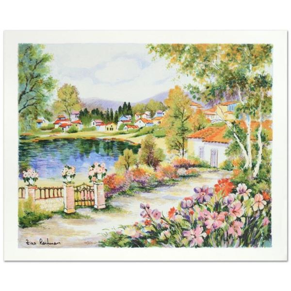 """Zina Roitman, """"Tranquility """" Hand Signed Limited Edition Serigraph with Letter o"""