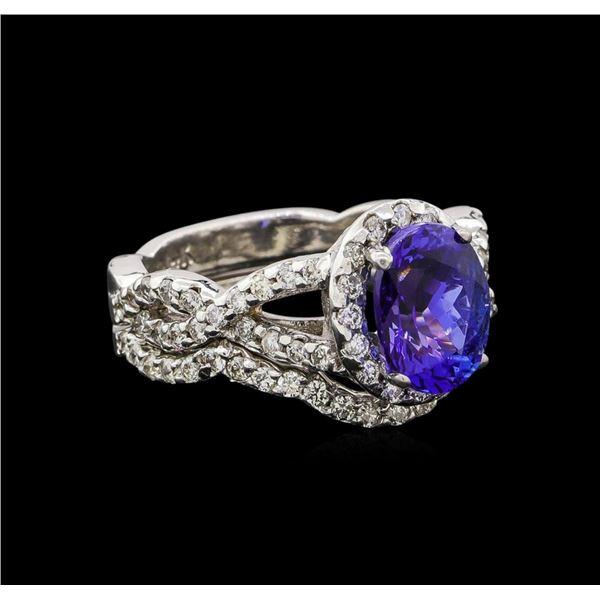 14KT White Gold 1.95 ctw Tanzanite and Diamond Wedding Ring Set