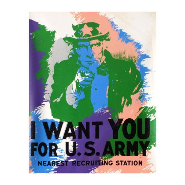Uncle Sam by Steve Kaufman (1960-2010)