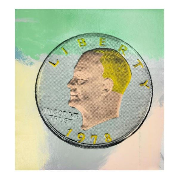 1978 Eisenhower Dollar by Steve Kaufman (1960-2010)