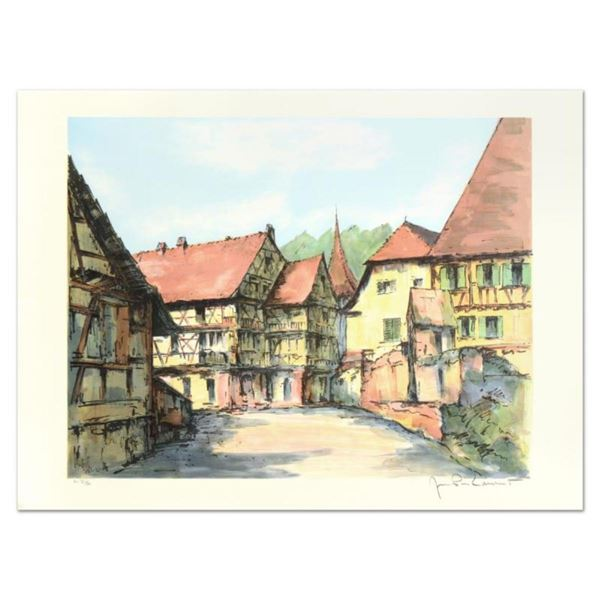 """Laurant, """"Village Kaisbeberg"""" Limited Edition Lithograph, Numbered and Hand Sign"""