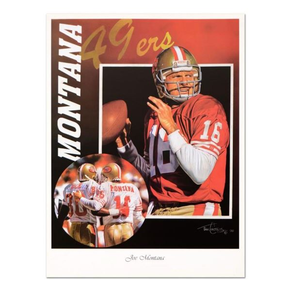 """Tim Cortes - """"Glory Days"""" Collectible Poster Featuring Hall of Famer Joe Montana"""